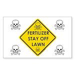Fertilizer Stay Off Lawn (YS) Sticker (Rectangle 1
