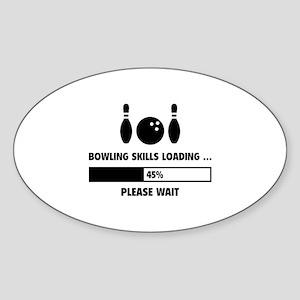 Bowling Skills Loading Sticker (Oval)