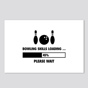 Bowling Skills Loading Postcards (Package of 8)