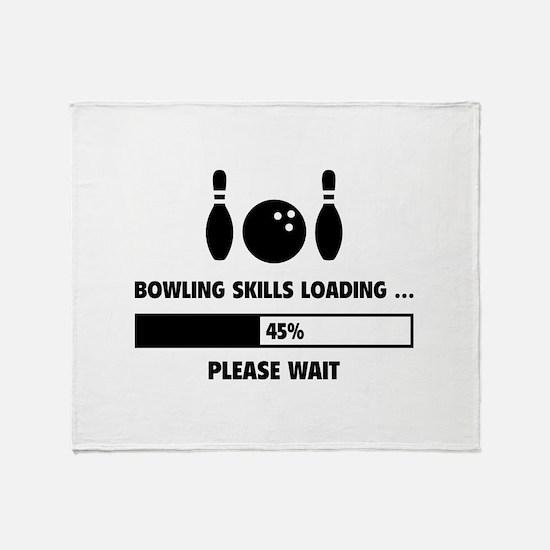 Bowling Skills Loading Throw Blanket