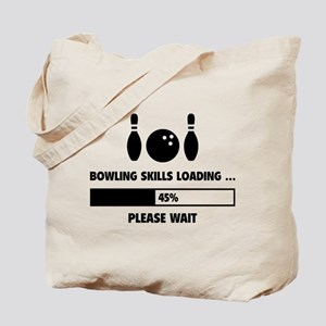 Bowling Skills Loading Tote Bag