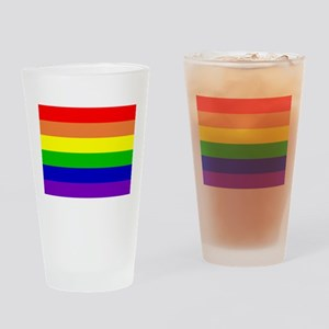 Rainbow Flag Drinking Glass