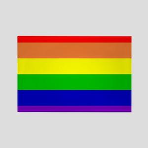 Rainbow Flag Rectangle Magnet