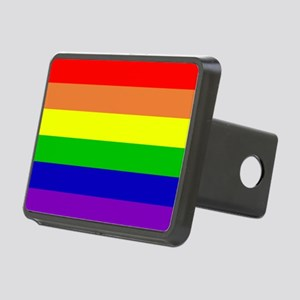 Rainbow Flag Rectangular Hitch Cover