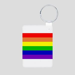 Rainbow Flag Aluminum Photo Keychain