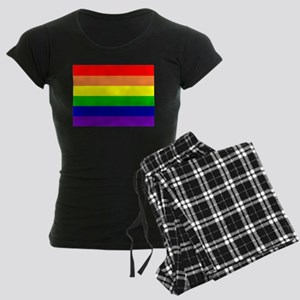 Rainbow Flag Women's Dark Pajamas
