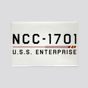 USS Enterprise Original Dark Rectangle Magnet