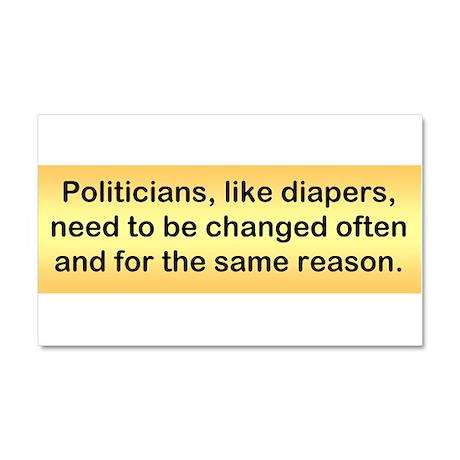 Politicians & Diapers Car Magnet 20 x 12