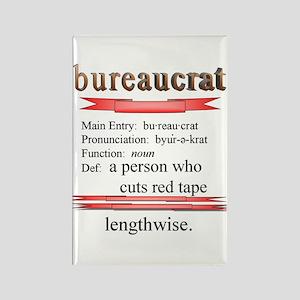 Bureaucracy Defined Rectangle Magnet