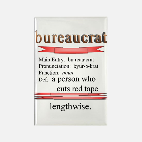 Bureaucracy Defined Rectangle Magnet
