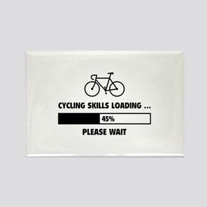 Cycling Skills Loading Rectangle Magnet
