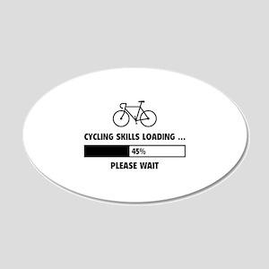 Cycling Skills Loading 22x14 Oval Wall Peel