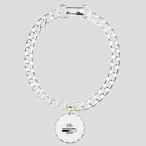 Cycling Skills Loading Charm Bracelet, One Charm