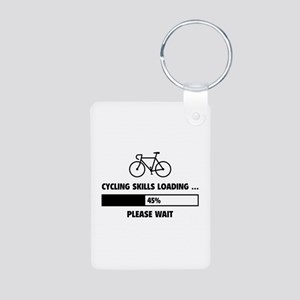 Cycling Skills Loading Aluminum Photo Keychain