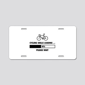 Cycling Skills Loading Aluminum License Plate