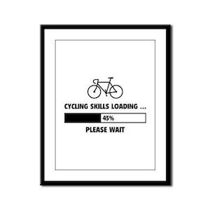 Cycling Skills Loading Framed Panel Print