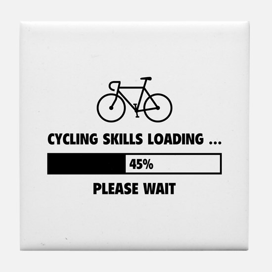 Cycling Skills Loading Tile Coaster