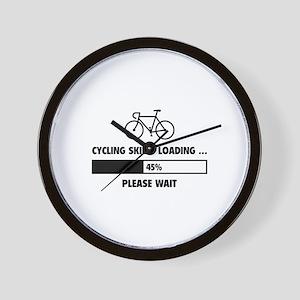 Cycling Skills Loading Wall Clock