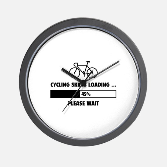 Cycling Skills Loading Wall Clock