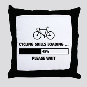 Cycling Skills Loading Throw Pillow