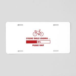 Cycling Skills Loading Aluminum License Plate