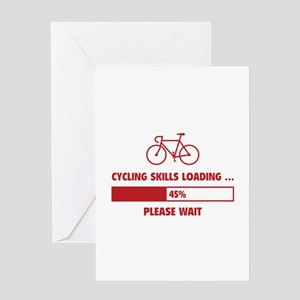 Cycling Skills Loading Greeting Card