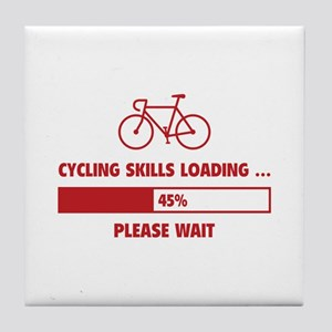 Cycling Skills Loading Tile Coaster