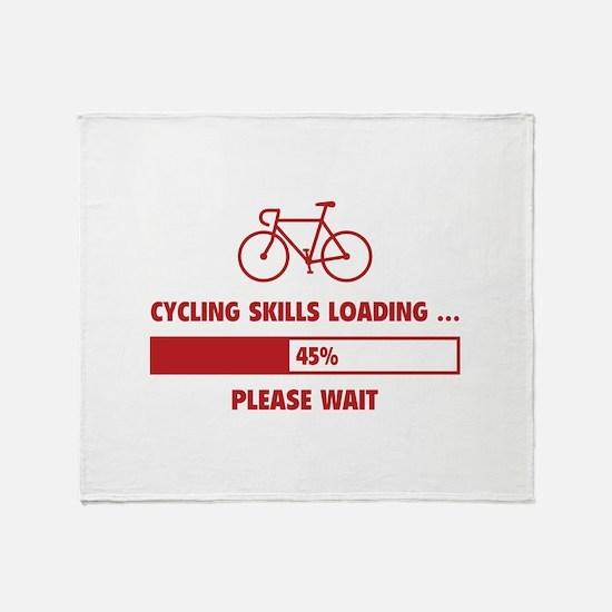 Cycling Skills Loading Throw Blanket
