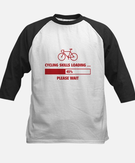 Cycling Skills Loading Kids Baseball Jersey