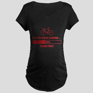 Cycling Skills Loading Maternity Dark T-Shirt