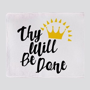 Thy Will Be Done Throw Blanket