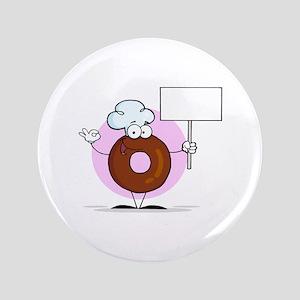 """Doughnut 3.5"""" Button"""