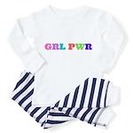 Grl Pwr Baby Pajamas - Blue Stripe