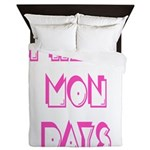 I Hate Mondays Pink Queen Duvet