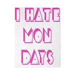 I Hate Mondays Pink Twin Duvet