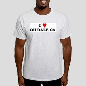I Love OILDALE Ash Grey T-Shirt