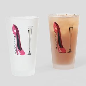 Pink Corkscrew Stiletto and Champagne Flute Drinki