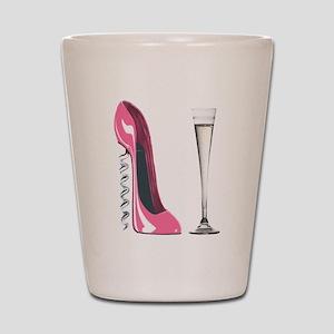 Pink Corkscrew Stiletto and Champagne Flute Shot G