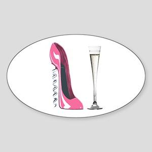 Pink Corkscrew Stiletto and Champagne Flute Sticke