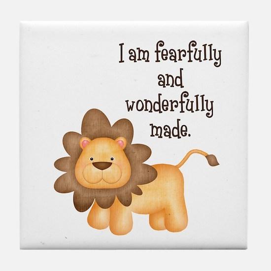 I am fearfully and wonderfully made Tile Coaster
