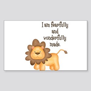 I am fearfully and wonderfully made Sticker (Recta