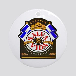 Honduras Beer Label 2 Ornament (Round)