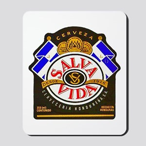 Honduras Beer Label 2 Mousepad