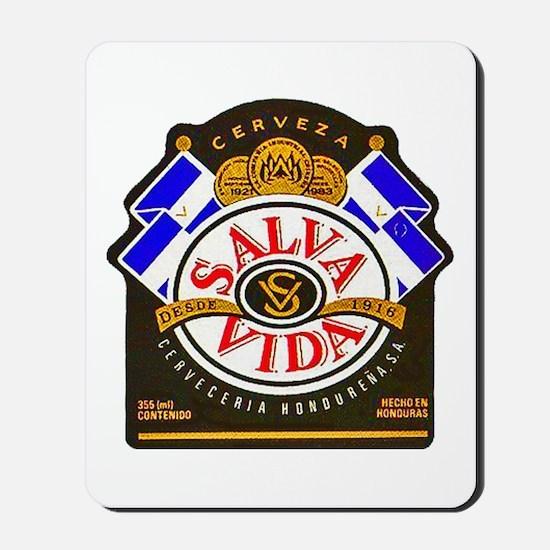 Honduras Beer Label 2 Mousepad