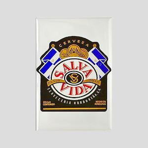 Honduras Beer Label 2 Rectangle Magnet