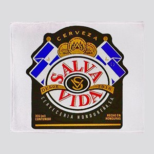 Honduras Beer Label 2 Throw Blanket