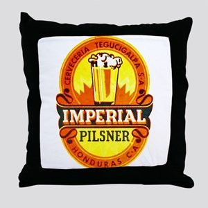 Honduras Beer Label 1 Throw Pillow
