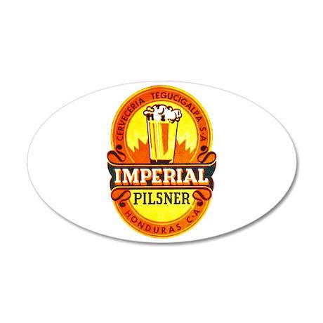 Honduras Beer Label 1 38.5 x 24.5 Oval Wall Peel