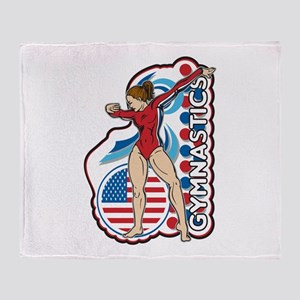 Gymnastics Throw Blanket