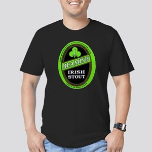 Ireland Beer Label 3 Men's Fitted T-Shirt (dark)